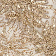 Champagne Trinity Floral Lace Fabric