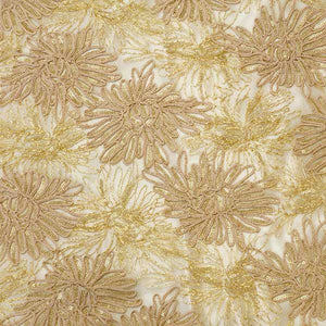 Gold Trinity Sequined Lace Fabric
