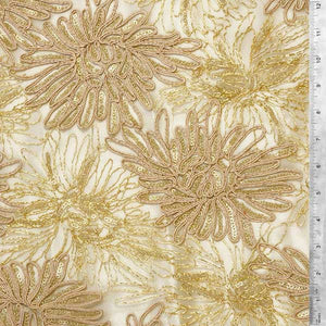 Gold Trinity Lace Fabric