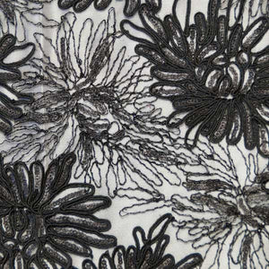 Black Trinity Floral Lace Fabric