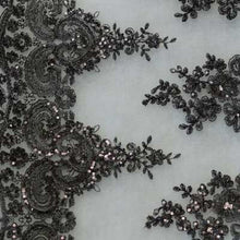 Black Hollywood Floral Scalloped Lace