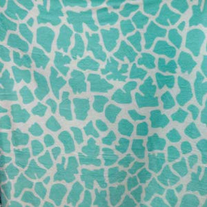Mint Green & White Cow Fleece Fabric