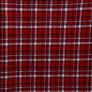 Red & Blue Thin Line Plaid Fleece Fabric