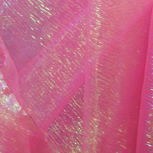 Hot Pink Woven Translucent/Iridescent LamŽ