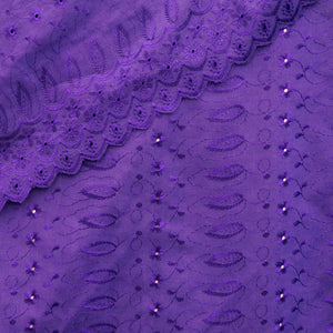 Royal Purple Sophia Eyelet - Cotton Blend