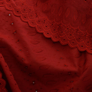 Burgundy Sophia Eyelet - Cotton Blend