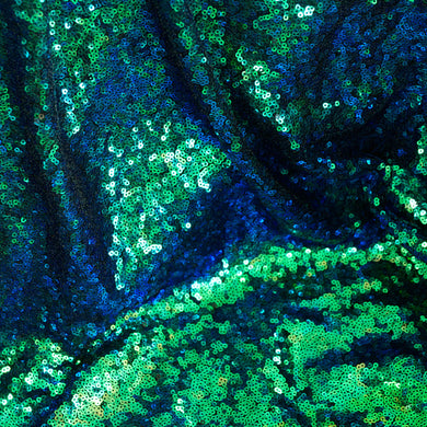 Green Holographic Iridescent Mini Glitz Sequin Fabric -  Reduced Price