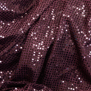 Deep Burgundy Confetti Dot Sequin Cheer Bow Costume Fabric by the Yard