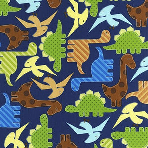 Slicker - Kona Laminated Cotton Fabric/Dino