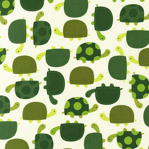 Slicker - Kona Laminated Cotton Fabric/Turtle