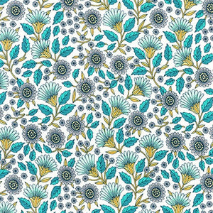 Slicker - Kona Laminated Cotton Fabric/Turquoise