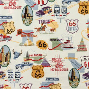 Route 66 - Alexander Henry Collection 100% Cotton Fabric