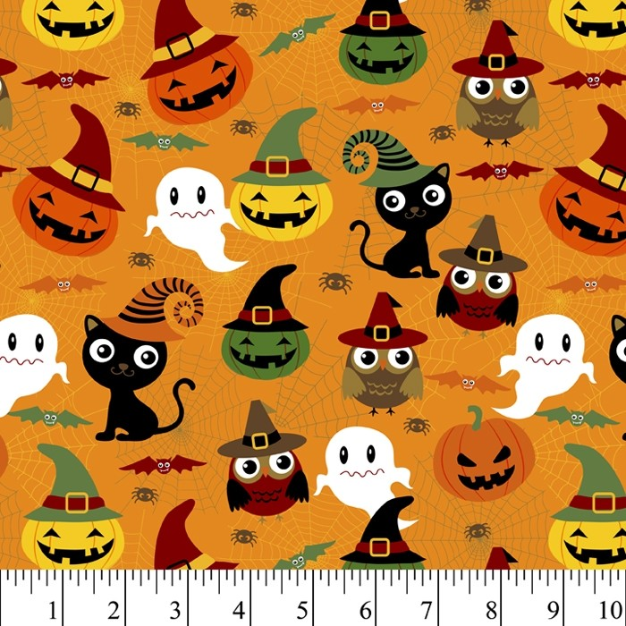 Halloween - Adorable Spooks 100% Cotton