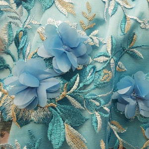 Alice 3D Lace Collection - Blue