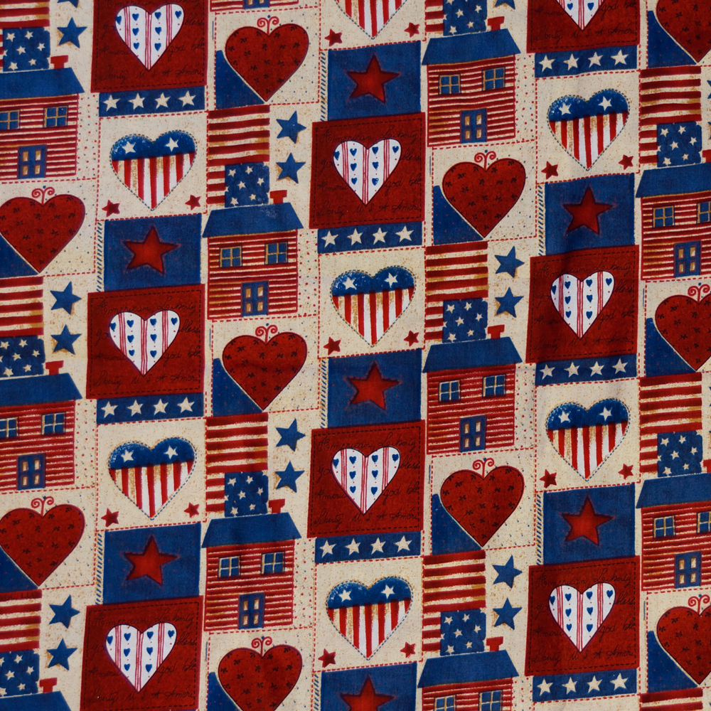 American Patchwork Patriotic Quilting Cotton