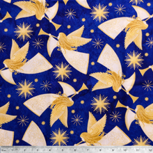 Angels Above Metallic -  100% Cotton Fabric