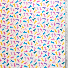 Cancer Awareness Multi-color Ribbons 100% Cotton Fabric