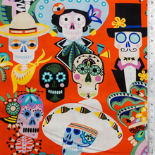 Carita Calaveras Red  - Alexander Henry Collection 100% Cotton Fabric