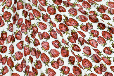Strawberries by Marketa Stengl - Double Brushed Jersey Knit