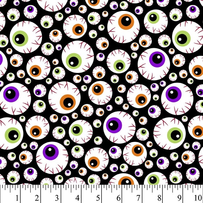 Halloween - Eyeballs 100% Cotton