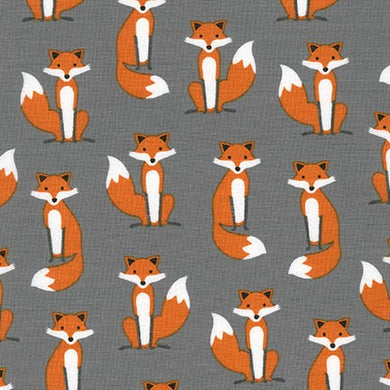 Slicker - Kona Laminated Cotton Fabric/Fox
