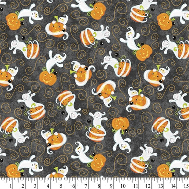 Halloween - Ghosts 100% Cotton