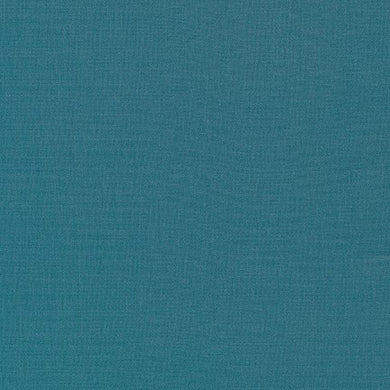 Kona Cotton Fabric - Teal Blue