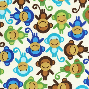 Slicker - Kona Laminated Cotton Fabric/Monkey