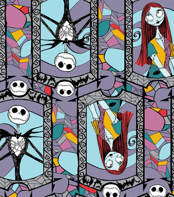 Halloween - Nightmare Stained Glass 100% Cotton