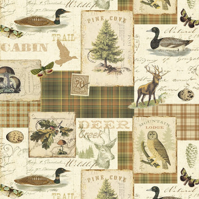 Northern Memories Nature Outdoor Forest 100% Cotton Quilting Fabric