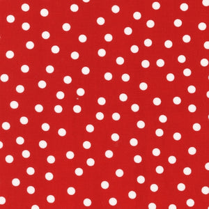 Slicker - Kona Laminated Cotton Fabric/Red