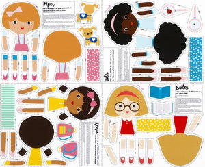 Novelty Prints - Girl Friends Doll Panel