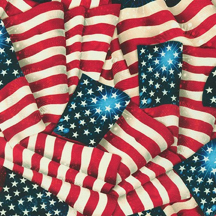 Patriotic Flag Quilting Cotton 108