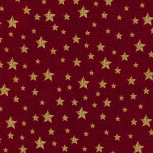 Novelty Cotton - Gold Stars/Red - Patriotic