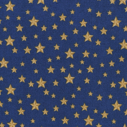 Novelty Cotton - Gold Stars/Navy - Patriotic