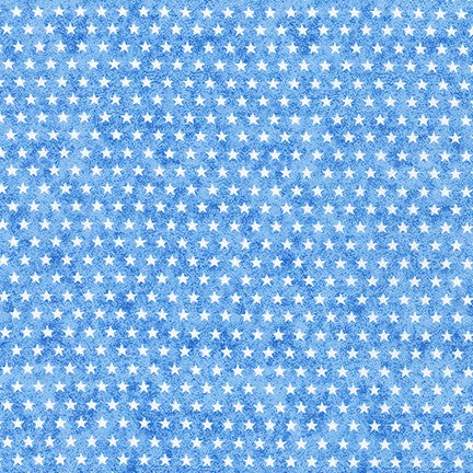 Novelty Cotton - White Stars/Lt Blue - Patriotic