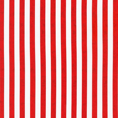 Novelty Cotton - Red White Stripes - Patriotic