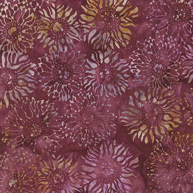 Artisan Batiks: Inspired by Nature Burgundy: Imported Batik Fabric