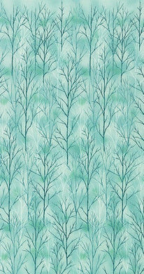A Walk on the Path: Cotton Quilting Fabric - Teal