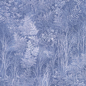 A Walk on the Path: Cotton Quilting Fabric - Periwinkle