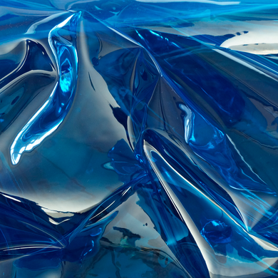 Blue Transparent Vinyl Fabric