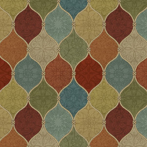 Autumn Harvest - Spice Medallion Multi 100% Cotton