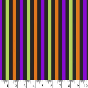 Halloween - Stripes 100% Cotton