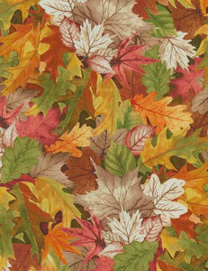 Packed Birch Tree Leaves 100% Cotton Fabrics
