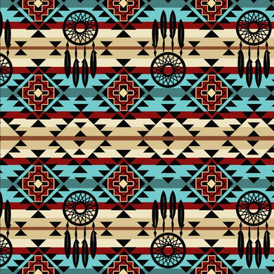 Native Dream Catcher 100% Cotton Fabric