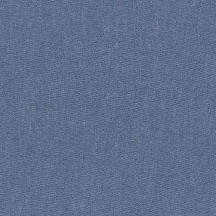 Chambray Cotton Blend Fabric - denim