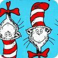 Novelty Cotton - Dr Seuss - The Cat in the Hat/Turquoise