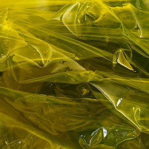 Yellow Transparent Vinyl Fabric