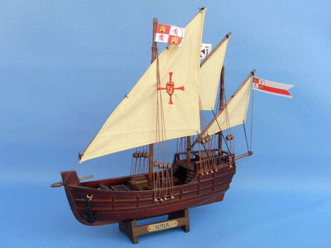Historic Ship | Christopher Columbus Nina Replica Model Ship 12""