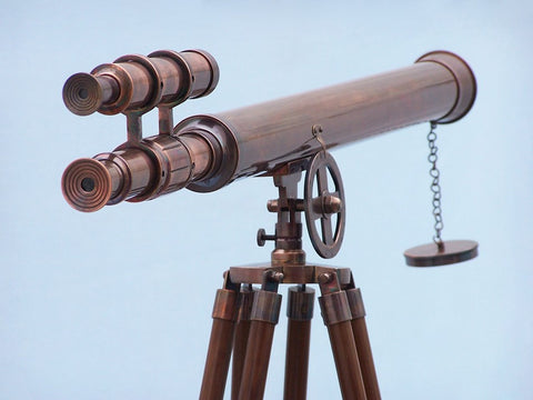 Telescopes | Antique Copper Floor Standing Griffith Astro 64""